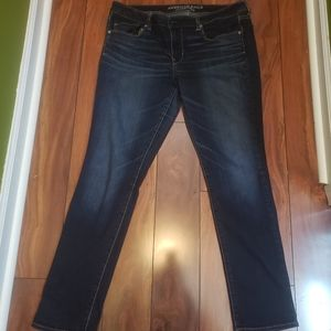 American eagle outfitters blue boot cut jeans